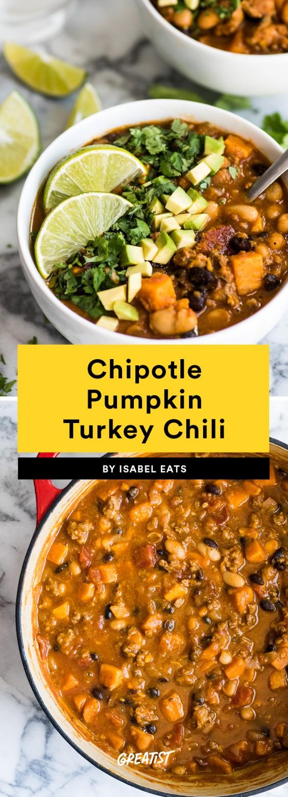 Chipotle Pumpkin Turkey Chili