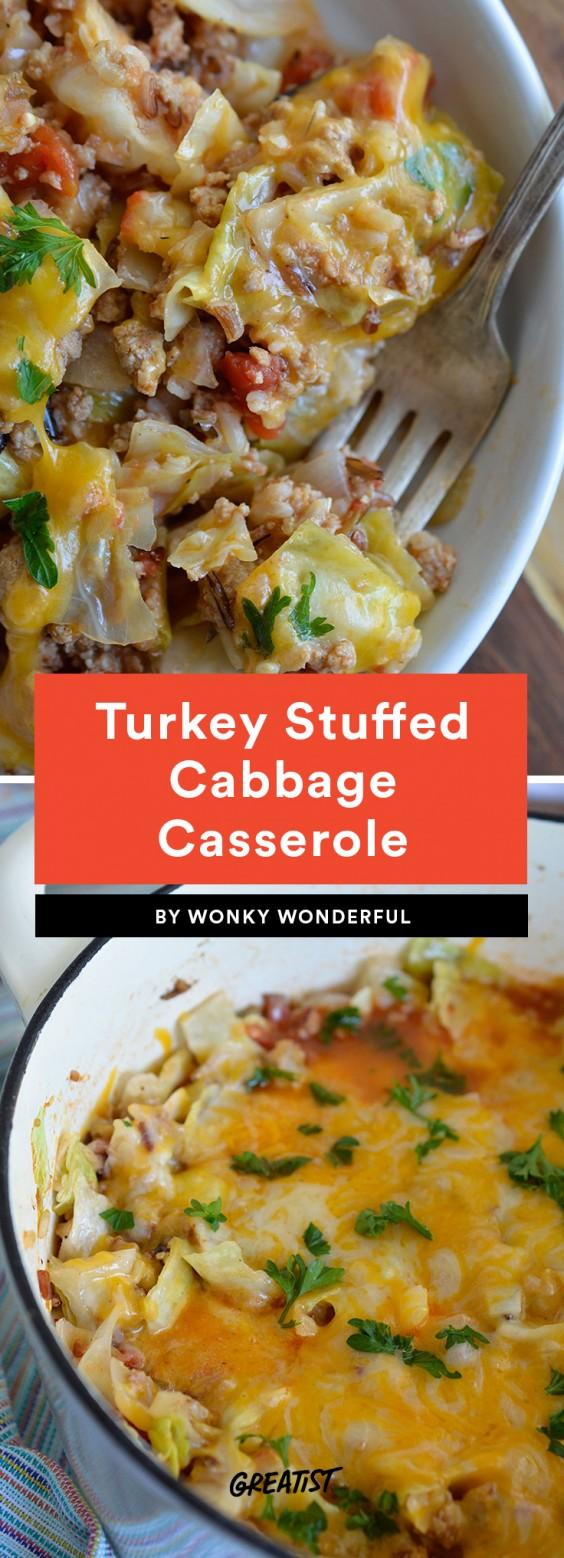 Turkey Stuffed Cabbage Casserole Recipe