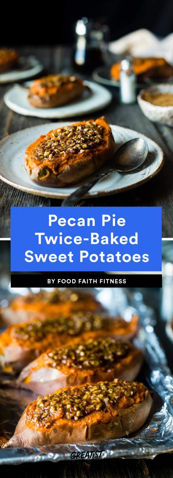 Pecan Pie Twice-Baked Sweet Potatoes