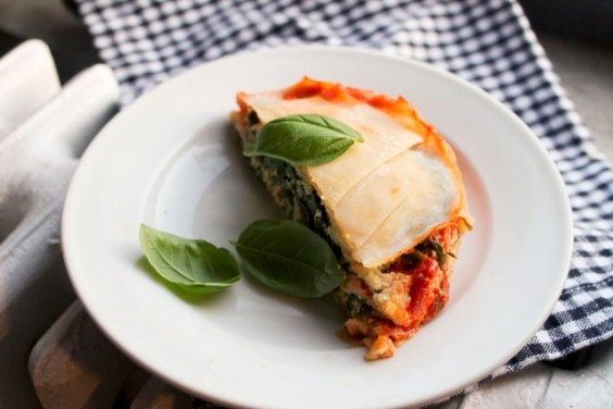 Vegan Ricotta and Spinach Lasagna