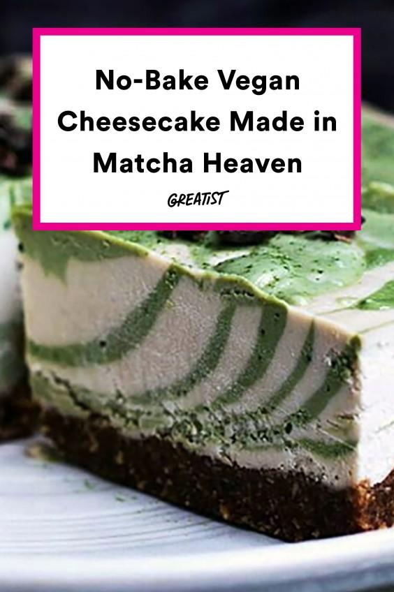 No-Bake Vegan Matcha Cheesecake