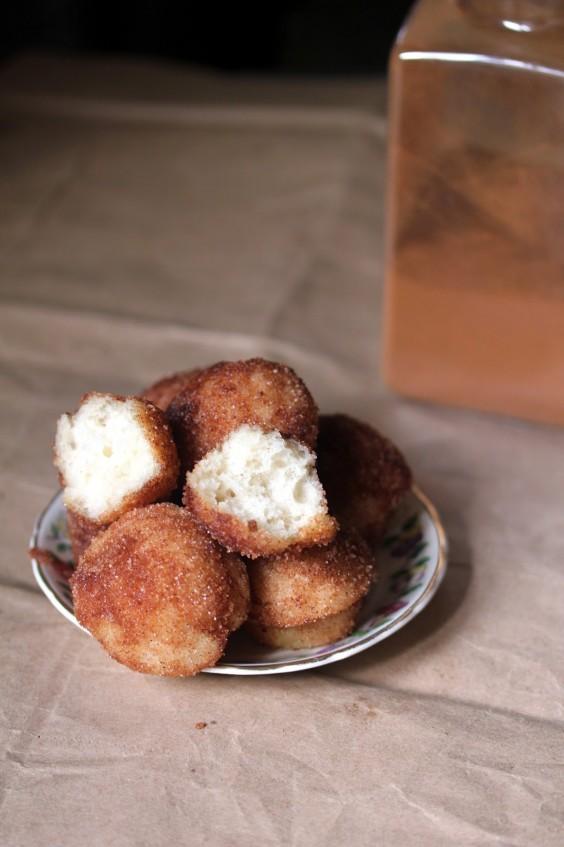 Vegan Cinnamon Sugar Sour Cream Doughnut Holes