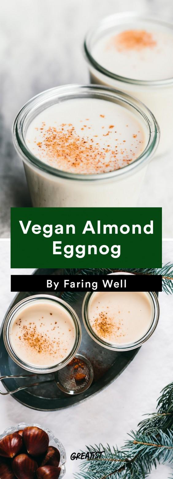 dairy free eggnog: almond