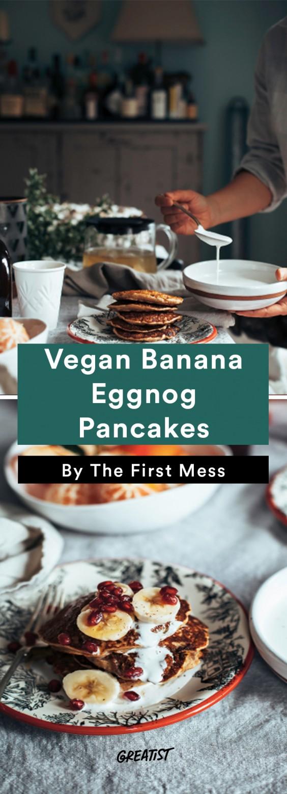 dairy free eggnog: Eggnog Pancakes