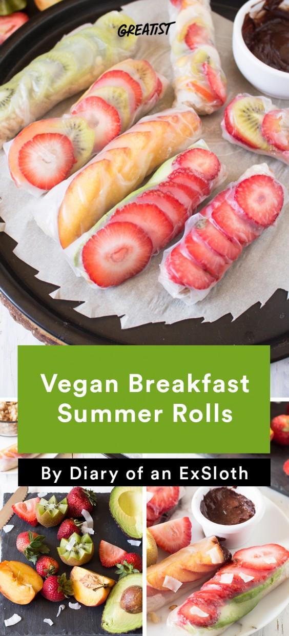ExSloth roundup: Vegan Breakfast Summer Rolls