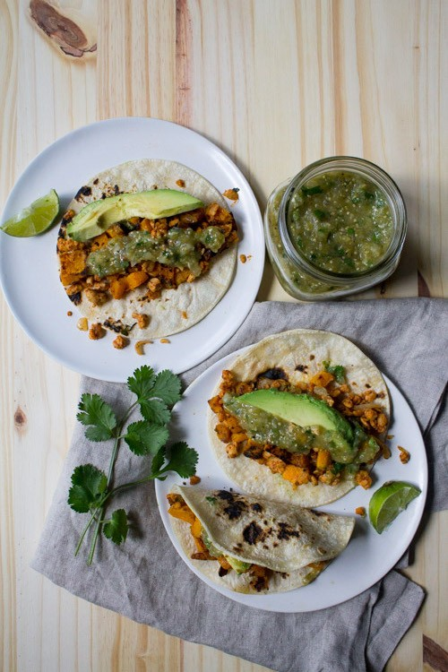 Vegan post workout meals 14 awesome recipe ideas greatist 10 butternut squash and tempeh tacos forumfinder Images