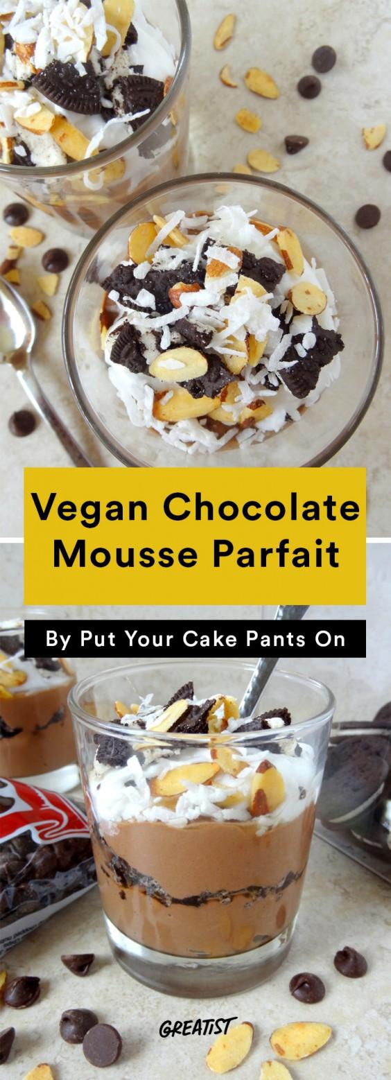 Tofu Recipes: Vegan Chocolate Mousse Parfait