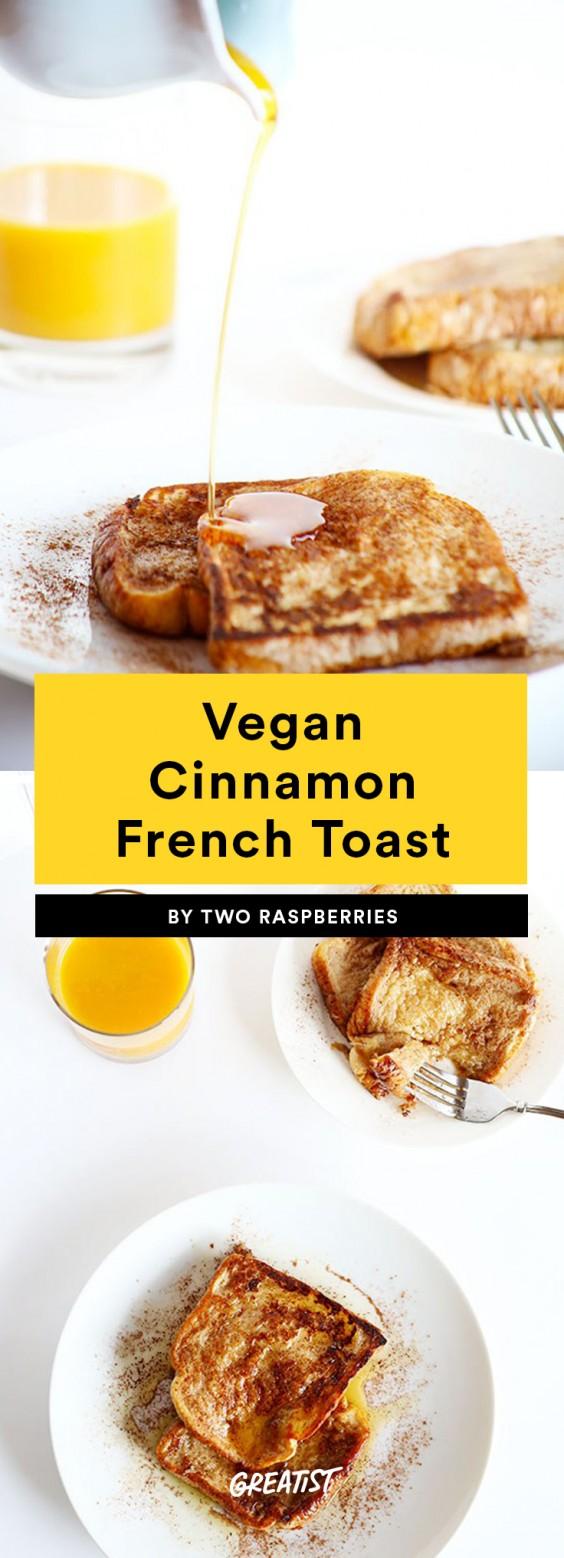 Vegan Cinnamon French Toast