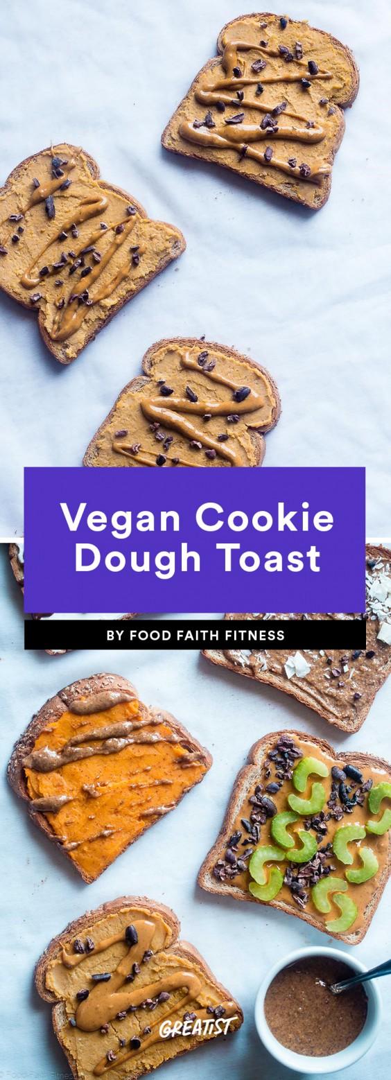 Vegan Cookie Dough Toast