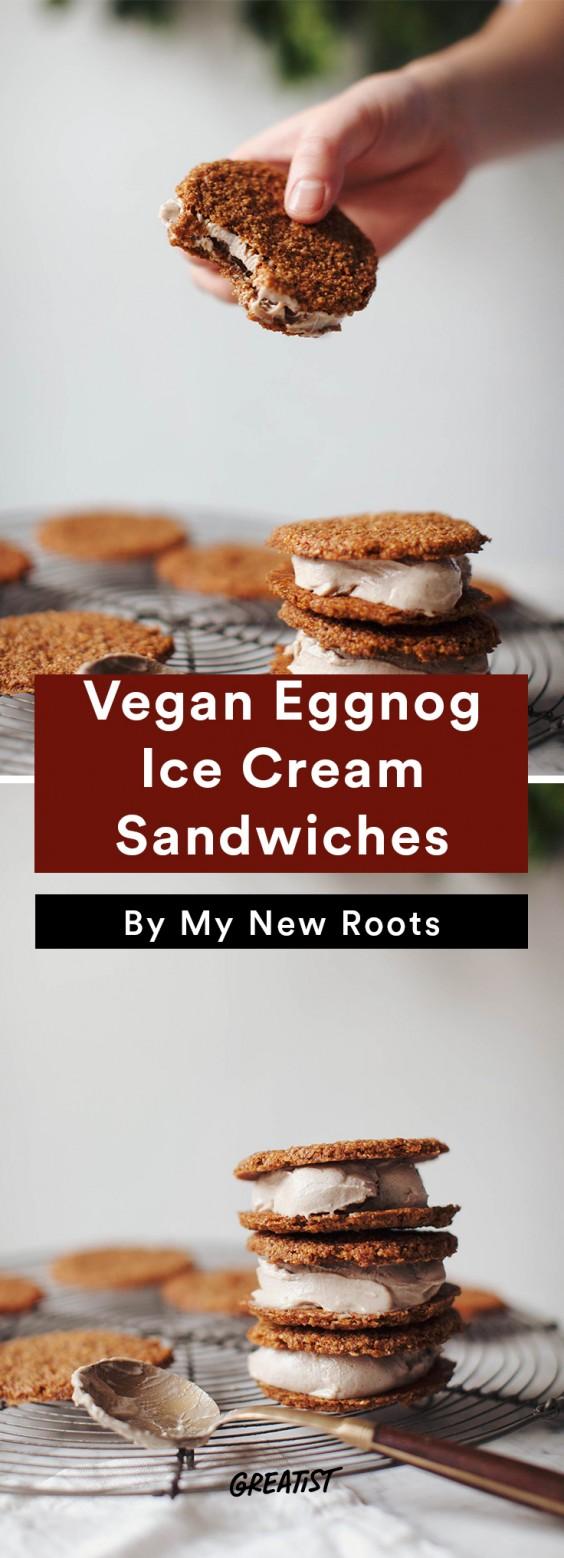 dairy free eggnog: Ice Cream Sandwiches