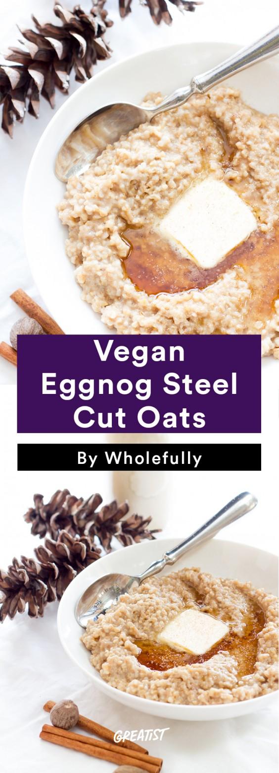 dairy free eggnog: Steel Cut Oats