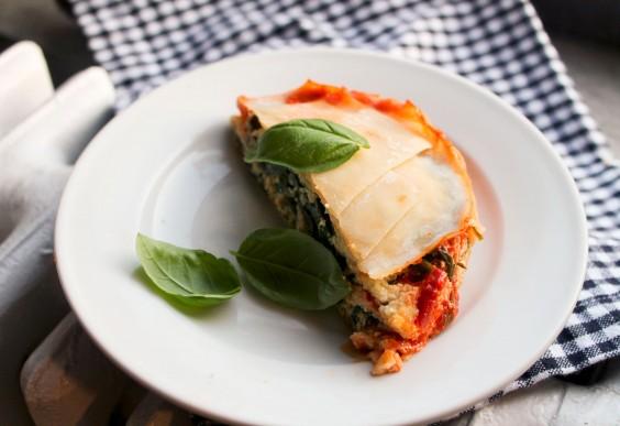 Vegan Ricotta and Spinach Lasagna