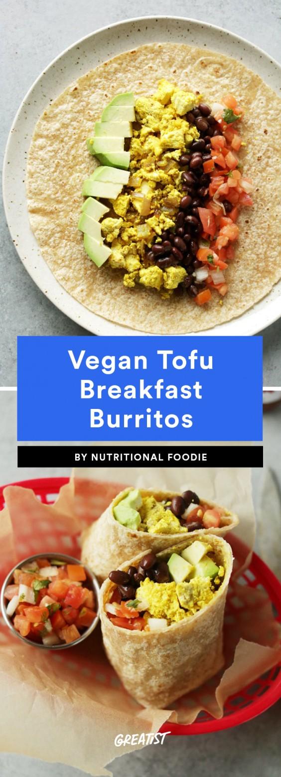Vegan Tofu Breakfast Burrito Recipe