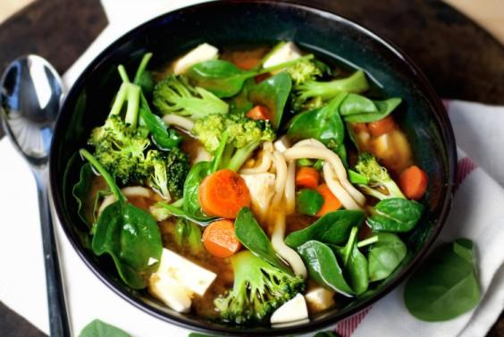 Veggie Miso Udon Soup