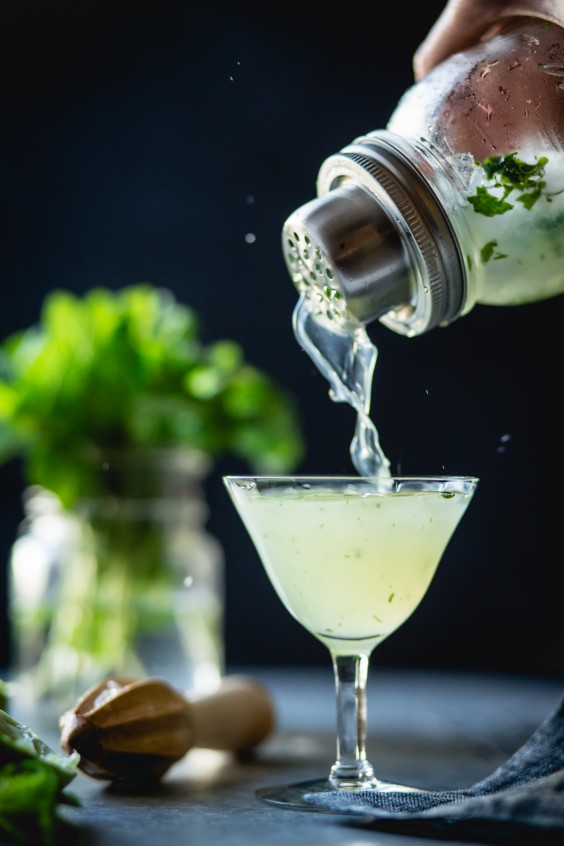 herb cocktails: mint verdant lady