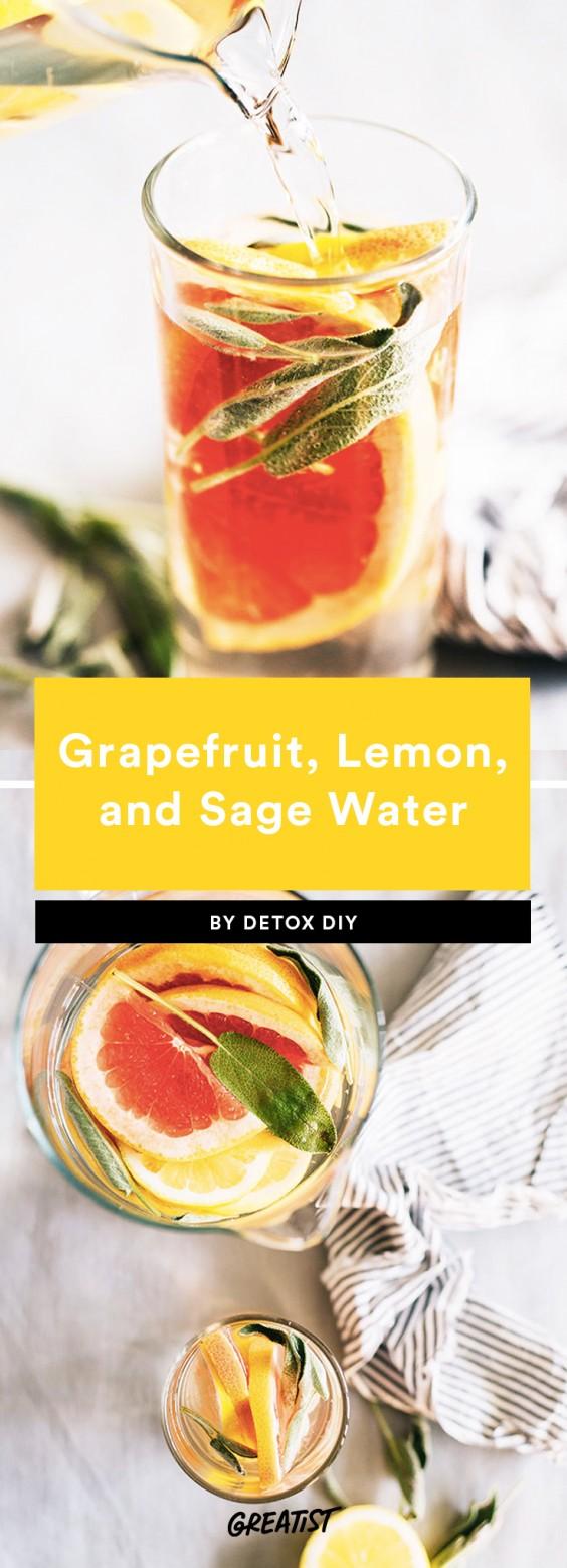 Grapefruit, Lemon, and Sage Water