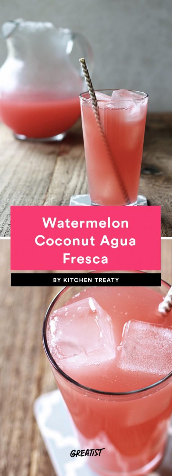 Watermelon Coconut Agua Fresca