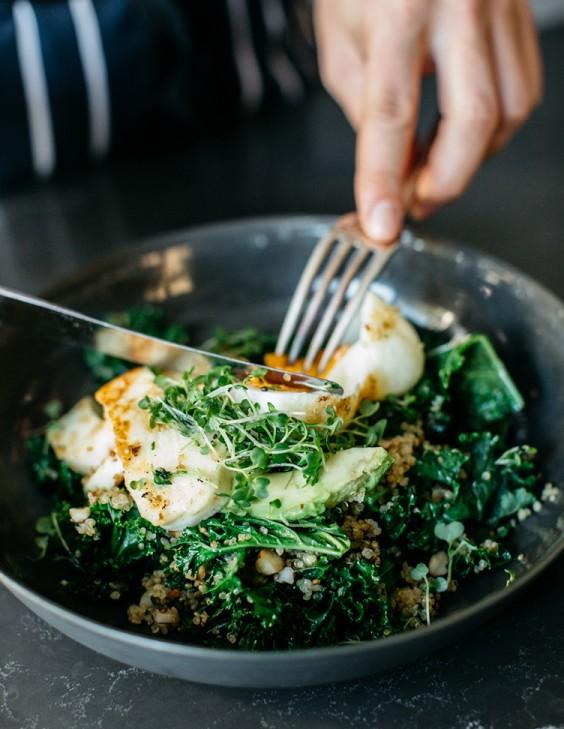 1. Warm Green Breakfast Bowl