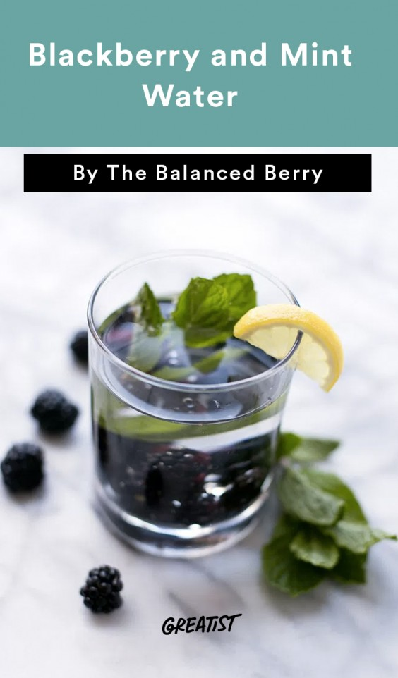 Blackberry and Mint Water