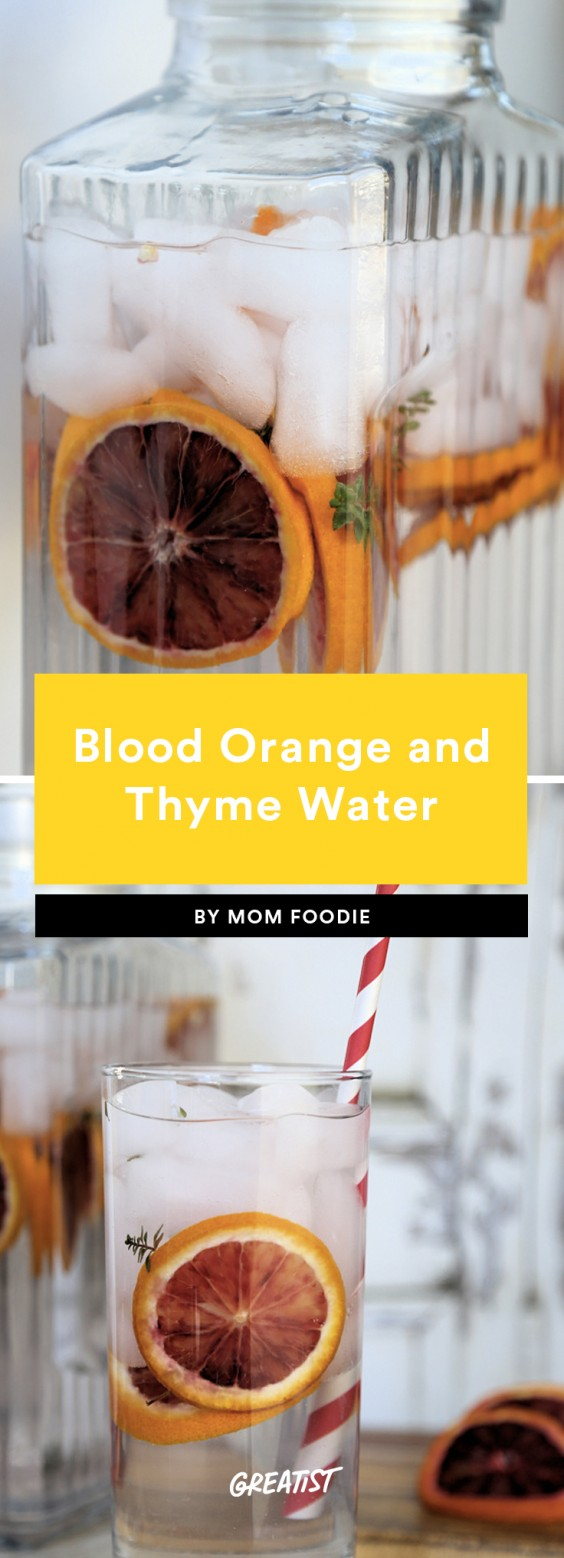 Blood Orange and Thyme Water
