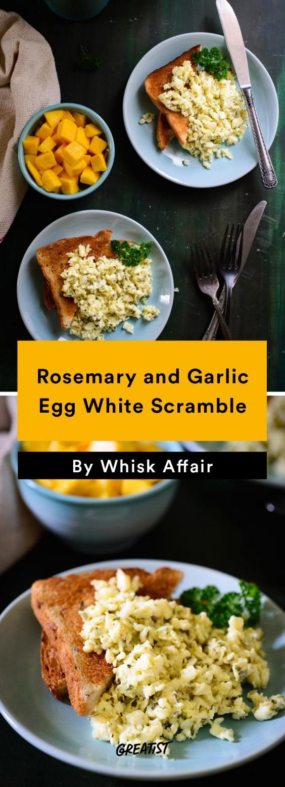Scrambled Egg Recipes: Rosemary and Garlic Egg White Scramble