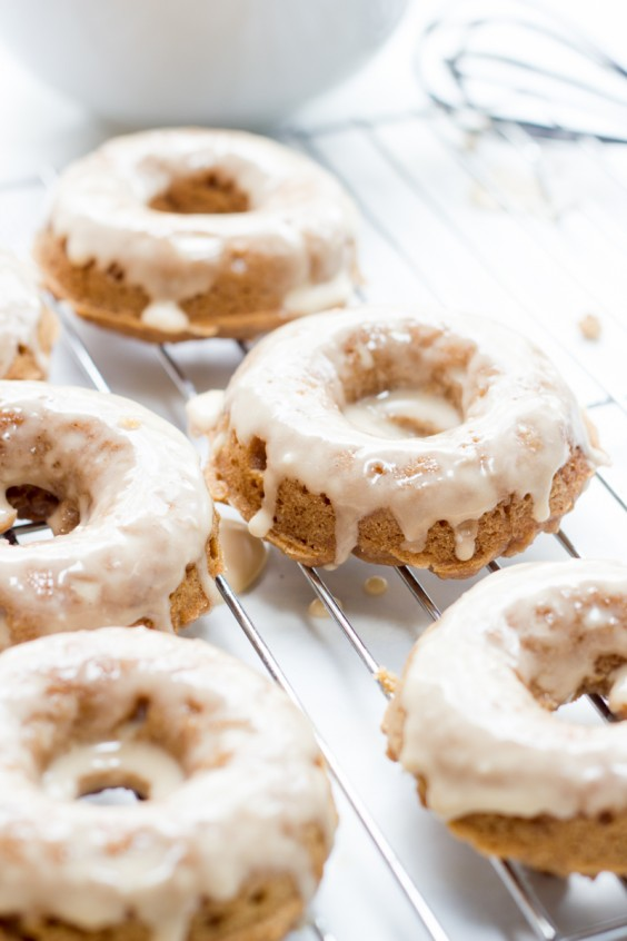 Whole Wheat Apple Butter Doughnuts
