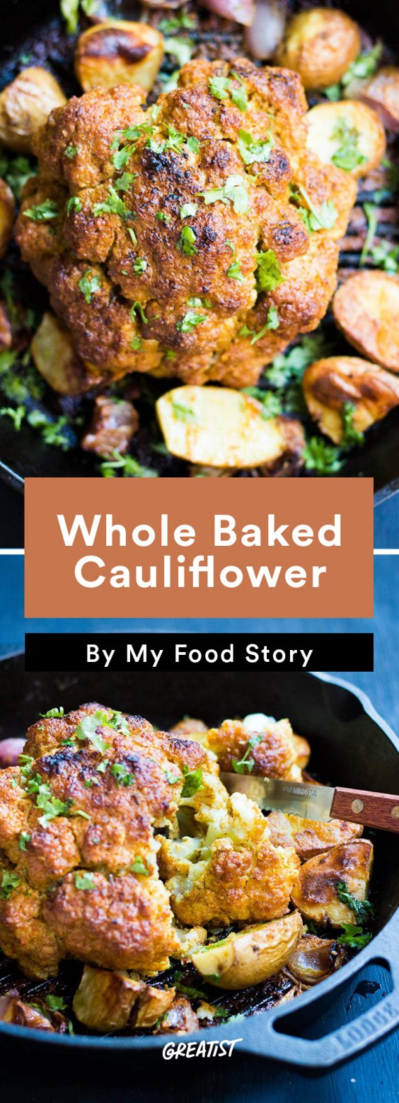 my food story: Whole Baked Cauliflower
