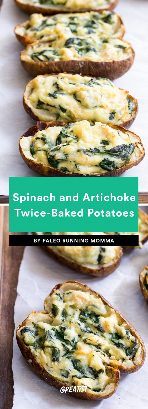 Spinach and Artichoke Twice-Baked Potatoes