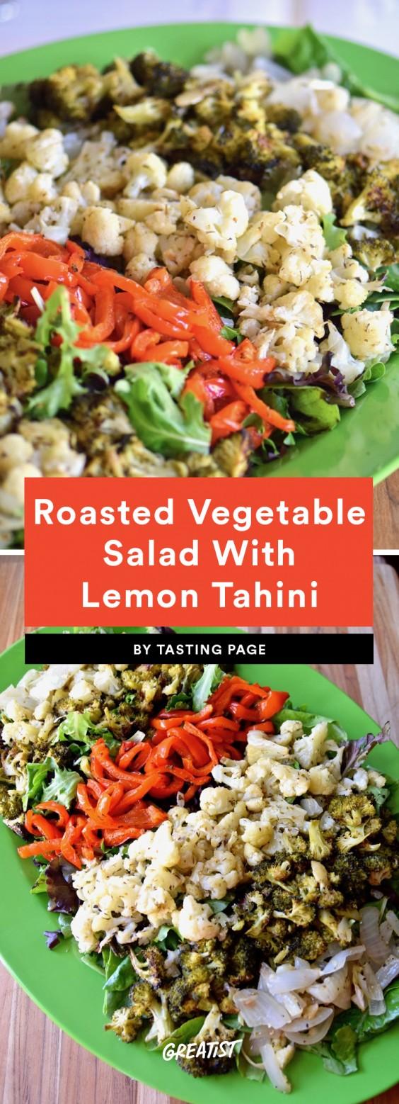 Roasted Vegetable Salad With Lemon Tahini