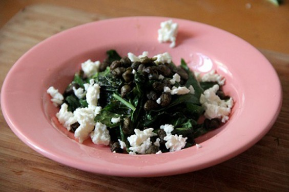 Wilted Kale and Feta Salad