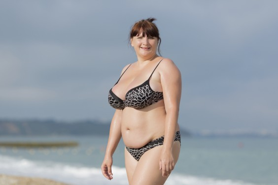 Beach Body: Woman Smiling on the Beach