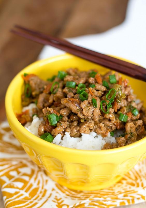 Healthy Grain Bowls: Teriyaki Turkey Rice Bowl