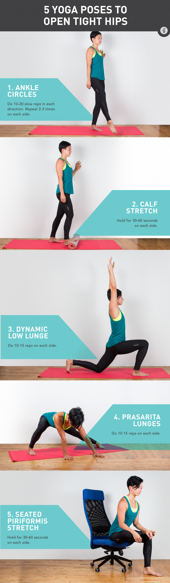 5 Easy Yoga Moves to Open Tight Hips | Greatist