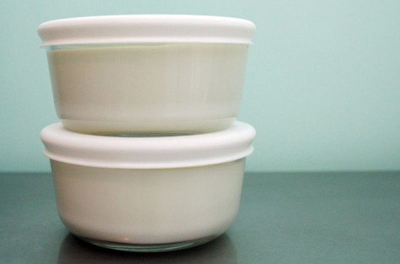 Yogurt in Tupperware