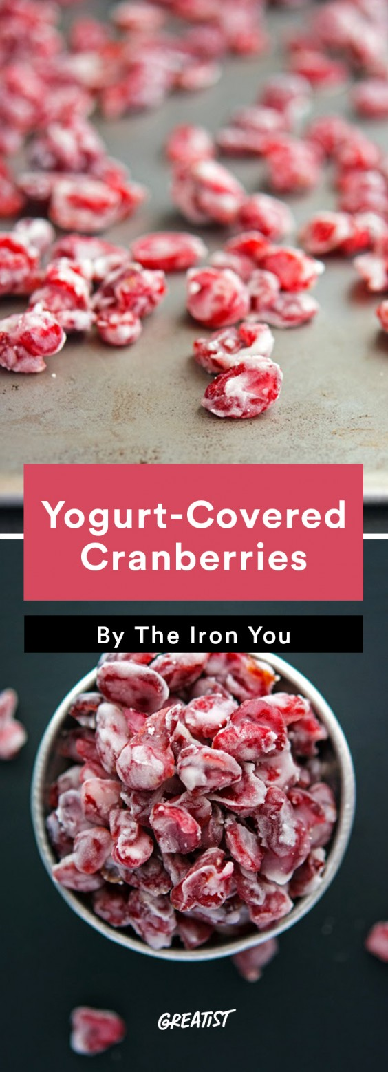 Travel Snacks: Yogurt-Covered Cranberries