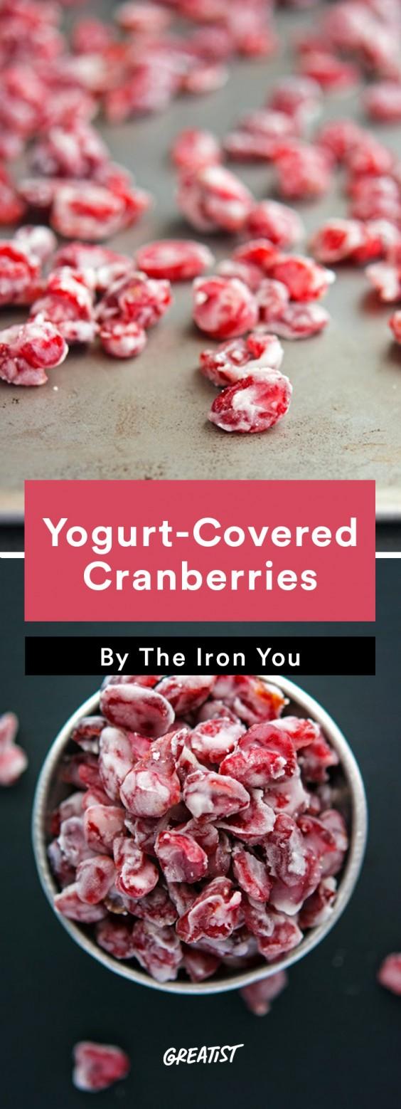 Travel Snacks: Yogurt-Covered Cranberries