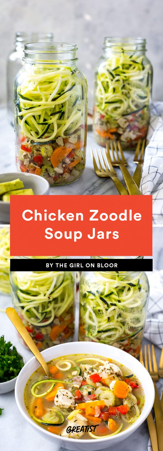 Chicken Zoodle Soup Jars
