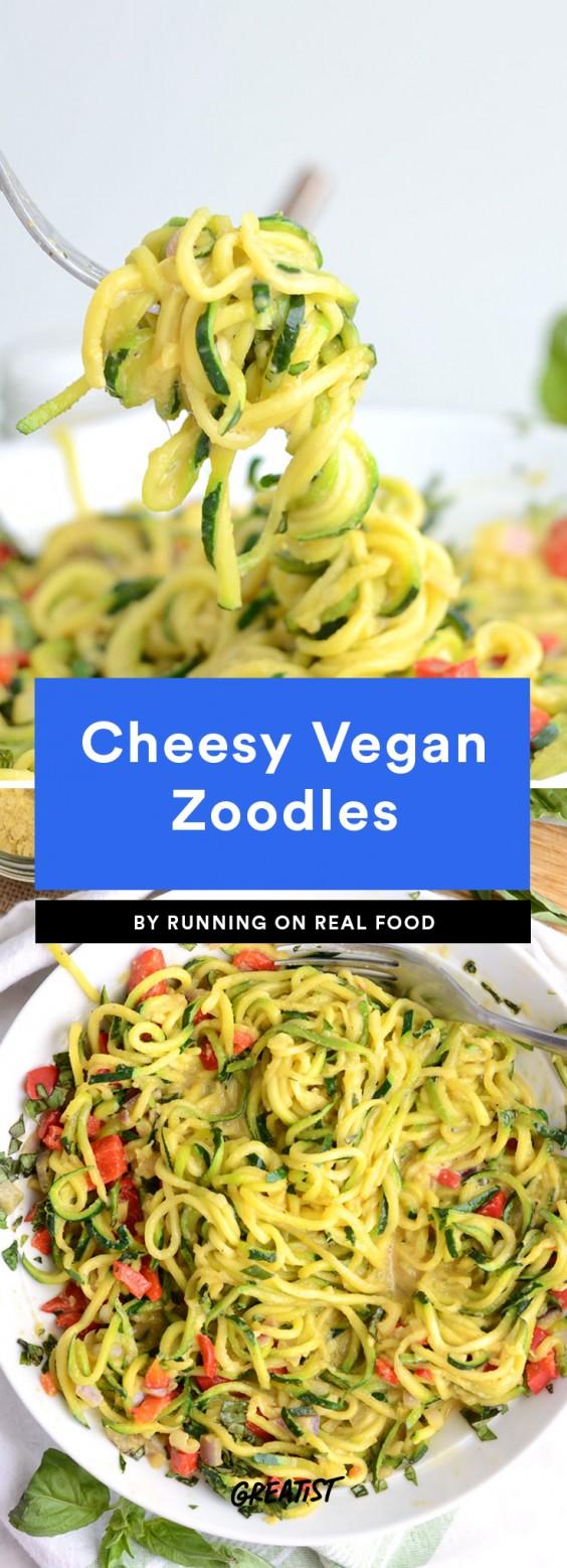 Cheesy Vegan Zoodles