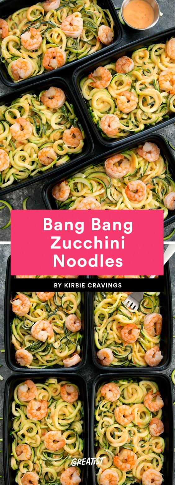 Bang Bang Zucchini Noodles