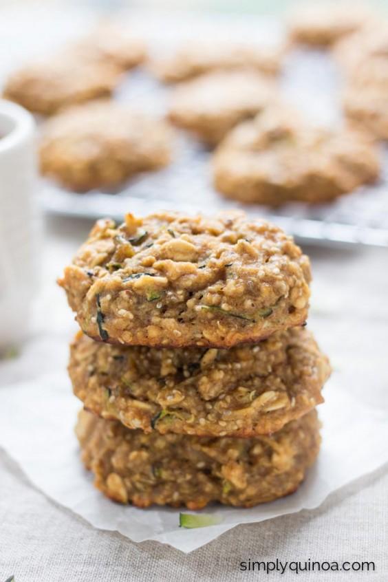 Zucchini Bread Quinoa Breakfast Cookies