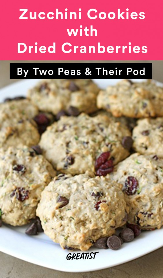 Zucchini Sweets- Zucchini Cookies with Dried Cranberries