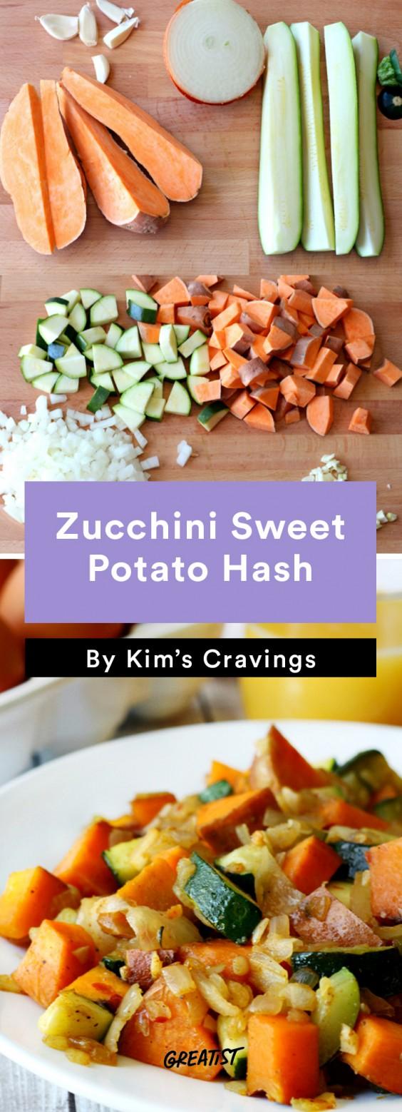 Sweet Potato Hash: Zucchini