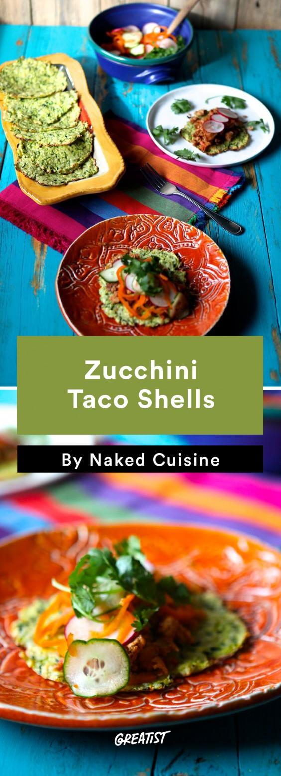 Zucchini Carbs: Taco Shells