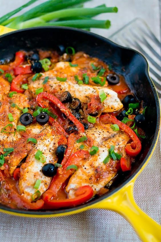 Paleo Dinners: One Skillet Tilapia Veracruz