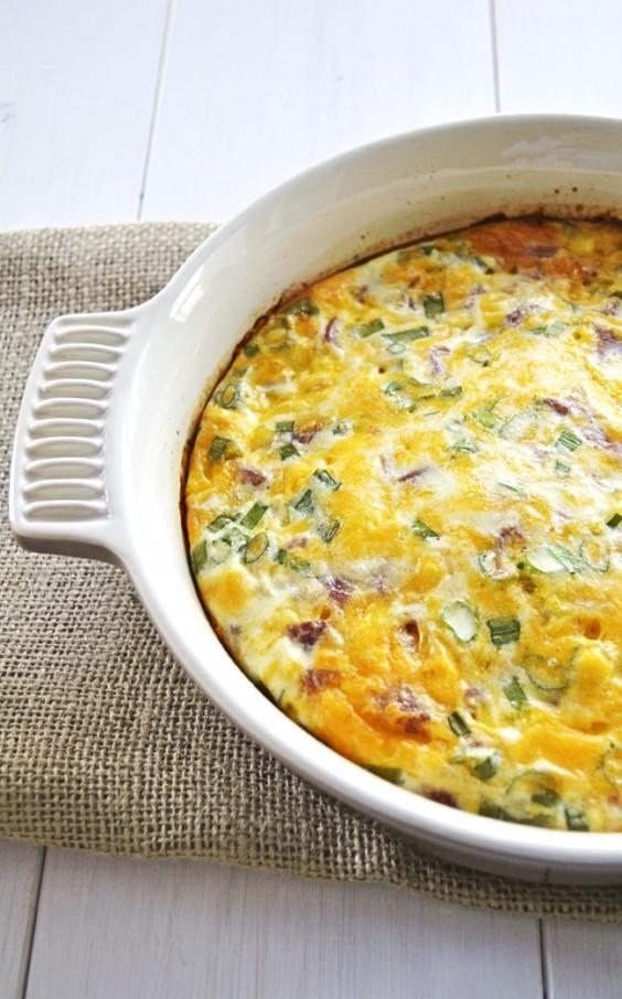 Thanksgiving Breakfast: Crustless Quiche