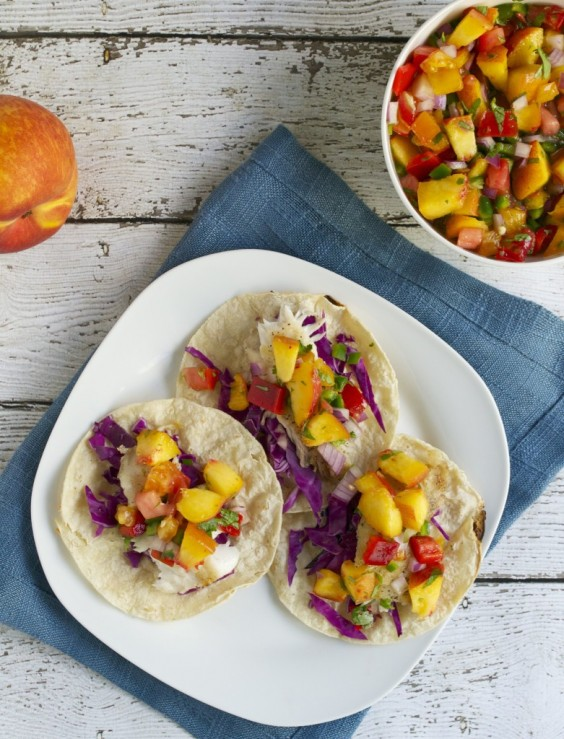Healthy Tacos: Tilapia Fish With Peach Salsa