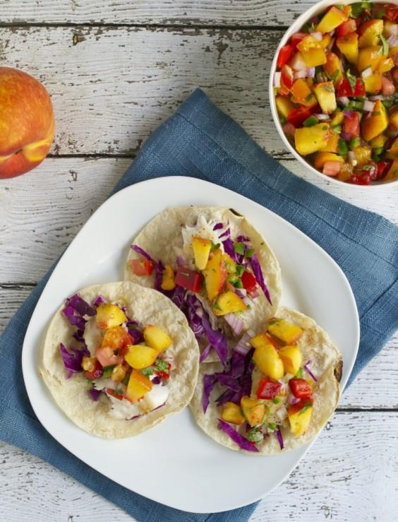 Healthy Tacos: Tilapia Fish With Peach Salsa