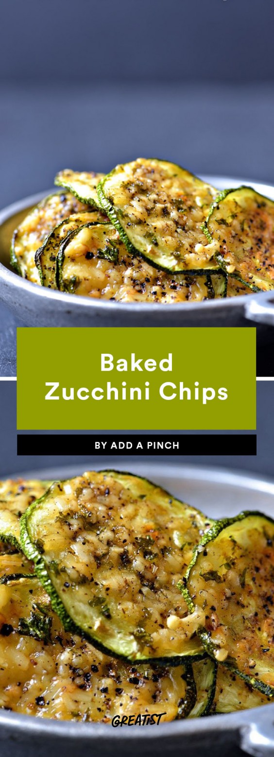 snack prep: Baked Zucchini Chips