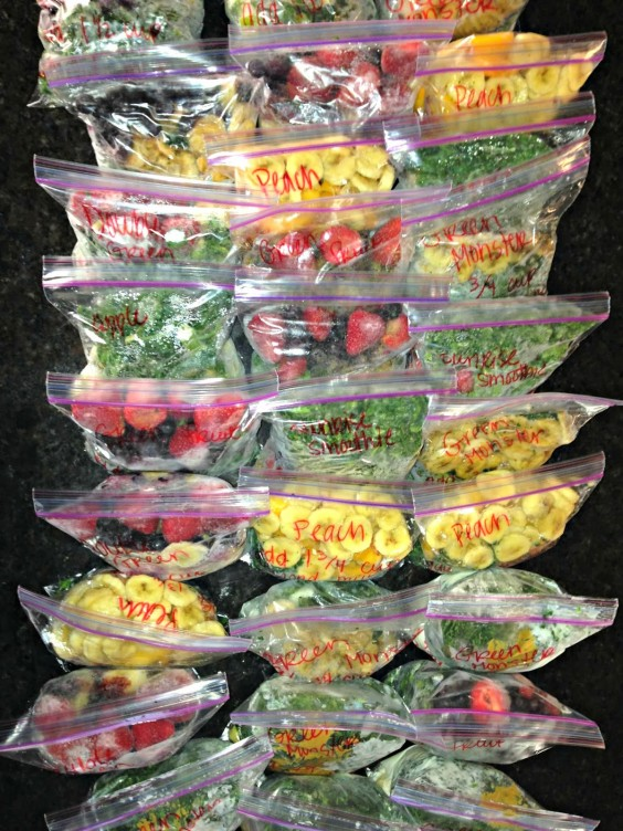 Freezer Meals: Smoothie Freezer Packs
