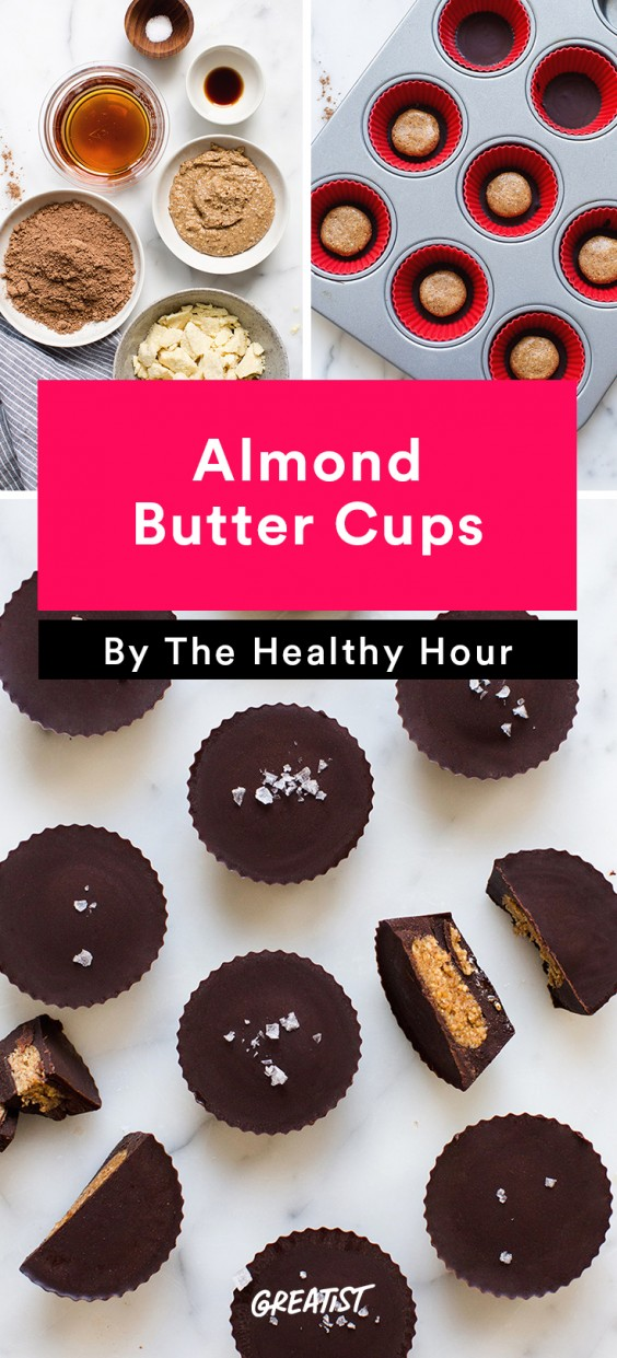 the healthy hour: Almond Butter Cups
